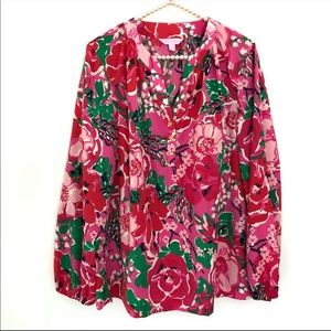 Lilly Pulitzer Blouse Size Large